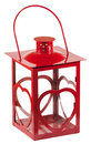 Isolated red lantern Royalty Free Stock Images