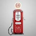 Isolated retro gas pump Royalty Free Stock Photo
