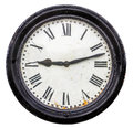 Isolated Rustic Old Station Clock Royalty Free Stock Photo