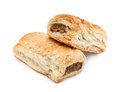 Isolated sausage rolls freshly baked pair of against a white background a traditional popular pastry snack available hot or cold Stock Photos