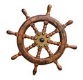 Image : Isolated Ships Wheel  view blue