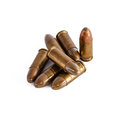 An isolated shot bullets on white Royalty Free Stock Image