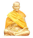 Isolated shot of Statue of buddhist Monk Stock Images