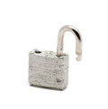 Isolated silver lock opened Royalty Free Stock Photo