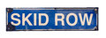 Isolated Skid Row Street Sign Royalty Free Stock Photo