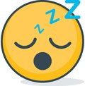 Isolated sleeping emoticon. Isolated emoticon.