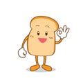 Isolated Slice of bread cartoon Royalty Free Stock Photo