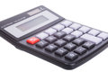 Isolated small portable calculator Royalty Free Stock Photo