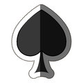 Isolated spade of card game design Royalty Free Stock Photo