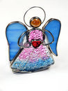 Isolated stained glass angel Royalty Free Stock Image
