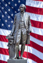 Isolated statue of George Washington. Royalty Free Stock Photo