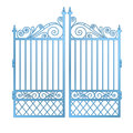 Isolated steel decorated baroque gate vector illustration Royalty Free Stock Image