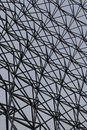 Isolated steel lattice with the grey background Royalty Free Stock Photo