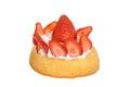 Isolated strawberry shortcake Royalty Free Stock Photo