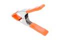 Isolated studio big clamp orange Royalty Free Stock Image