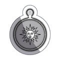 Isolated sun inside compass design Royalty Free Stock Photo
