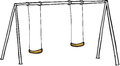 Isolated Swing Set Royalty Free Stock Photo
