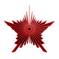 Isolated symbolic red star Stock Images