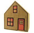 Isolated toy house isolation of a wooden with clipping path Stock Images