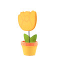 Isolated toy tulip Royalty Free Stock Image