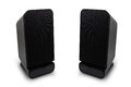 Isolated two desktop speakers Royalty Free Stock Photo