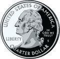 Isolated United States Quarter - vector illustrat Royalty Free Stock Photo