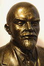 Isolated V.I. Lenin bronze Royalty Free Stock Photo