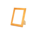 Isolated varnished wooden picture frame with stand Royalty Free Stock Photo
