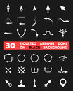Isolated vector arrows signs on black background this is file of eps format Royalty Free Stock Photo