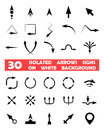Isolated vector arrows signs on white background this is file of eps format Stock Images