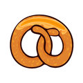 Isolated vector illustration of delicious pretzel