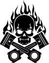 Piston Skull Racer Royalty Free Stock Photo