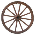 Isolated vintage carriage wheel Royalty Free Stock Photo