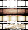 Isolated vintage film frame collection Royalty Free Stock Photography