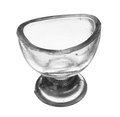 Isolated vintage glass eye wash rinse cup on a white background Stock Photography