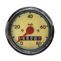 Isolated Vintage Speedometer Royalty Free Stock Photo