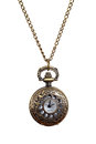 Isolated Vintage style woman pocket watch necklace Royalty Free Stock Photo