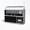 Isolated vintage world band radio d illustration s transistor modeled with rhino and zbrush rendered within ds max with v ray Stock Photography