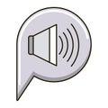 Isolated volume icon