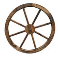 Isolated Wagon Wheel Royalty Free Stock Images