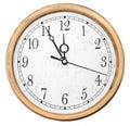 Isolated wall clocks Stock Image