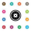 Isolated Wheel Icon. Lbs Vector Element Can Be Used For Wheel, Lbs, Dumbbell Design Concept. Royalty Free Stock Photo