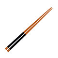 Isolated wooden chopsticks