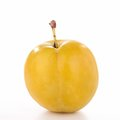 Isolated yellow plum Royalty Free Stock Photo