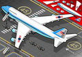 Isometric air force one in rear view detailed illustration of a with presidential limousine this illustration is saved eps with Royalty Free Stock Photo