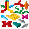 Isometric Arrows Royalty Free Stock Image