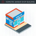 Isometric barber shop building