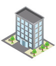 Isometric building and car park vector buildings Stock Photos
