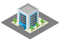Isometric building and car park vector buildings Royalty Free Stock Images