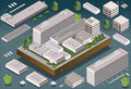 Isometric building detailed illustration of a this illustration is saved in eps with color space in rgb Royalty Free Stock Photography